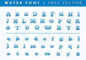 Water Font Free Vector