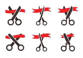 Free Ribbon Cutting Vector Icon