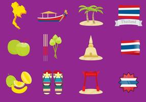 Thailand Icons vector