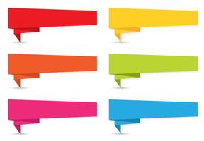 Colorful Origami Banner Set vector