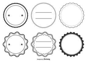 Conjunto de formas de etiqueta variadas