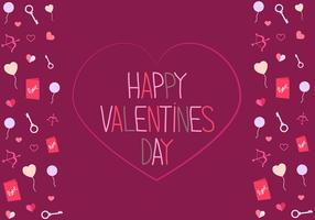Freier Valentinstag-Karten-Vektor
