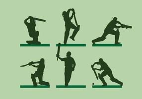 Vettore di Silhoutte Player Cricket