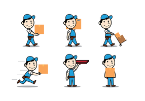 Free Delivery Man Vector