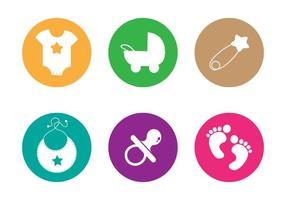 Vector des empreintes de bébé
