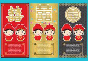 Chinese Wedding Flyers vector