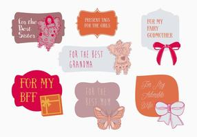 Free Present Tags Vector