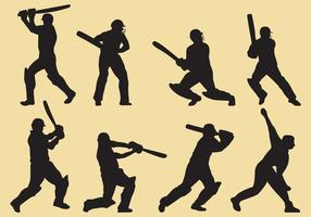Cricket Player Silhouettes