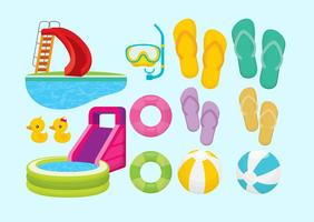 Aquatic Summer Items vector