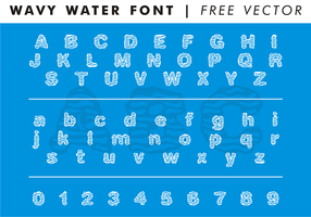 Wavy water font free vector