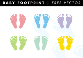 Baby Footprint Free Vector