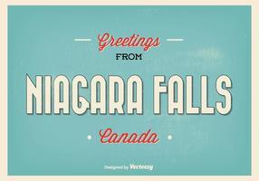 Retro Niagara Falls hälsning illustration