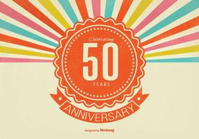 Retro illustrazione di anniversario di stile 50th