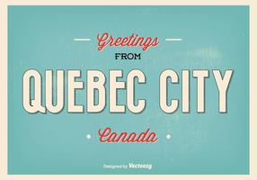 Retro Quebec City Greeting Illustration