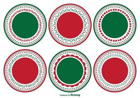 Dekorative Blank Christmas Label Set