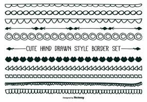 Cute Hand drawn style border set