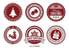 Ensemble de badges de Noël assorti