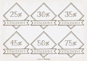 Handgezeichnete Discount-Etiketten