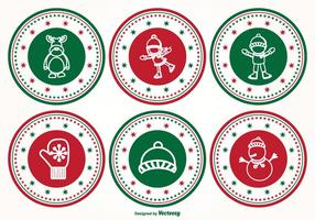 Christmas Stamp Set vector