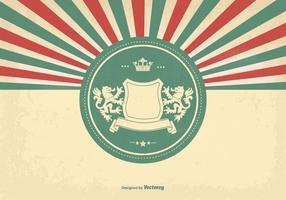 Heraldische Art Weinlese-Hintergrund