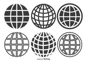 Globe Grid Set vector