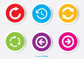 Assorted Colorful Arrow Button Icon Set vector