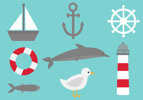 Vector Nautical Elements gratuit