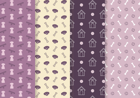 Gratis Dog Pattern Vector