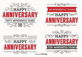 Happy Anniversary Label Set