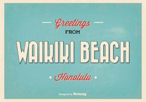 Waikiki Gruß Illustration