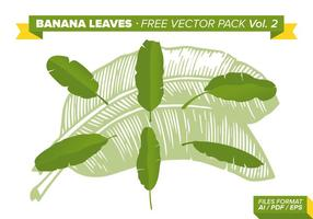 Folha de banana Free Vector Pack Vol. 2