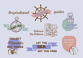 Free Inspirational Zitate Vektor Hintergrund