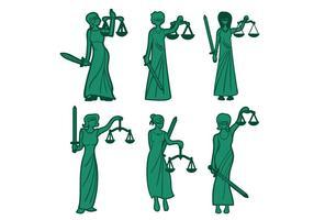 Dame rechtvaardigheid vector