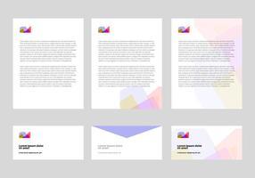 Vecteur gratuit de conception de tête de lettre