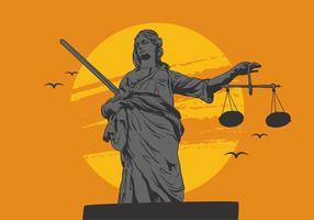 Vector senhora justiça
