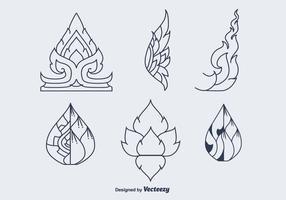 Kostenlose Thai Pattern Vector Icons