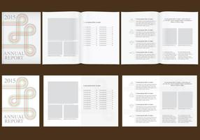 Minimalist Annual Report vector