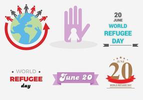Vecteur gratuit de la journée des réfugiés