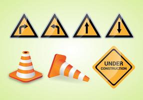 Gratis Traffic Cone Vector