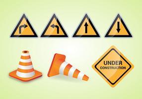 Free Traffic Cone Vector