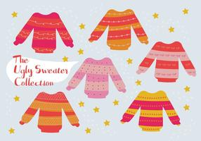 Gratis uppsättning Ugly Sweater Vector Background