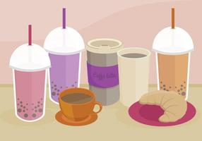 Bubble Tea Vector Illustration