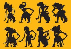Wayang silhouetten
