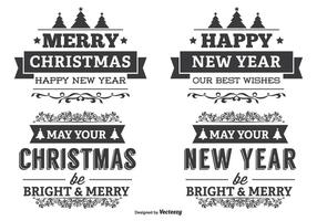 Typographic Christmas Label Set vector