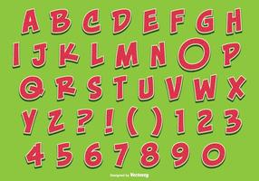 Cute Watermelon Style Alphabet Set