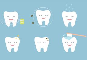 Vector libre de los dientes