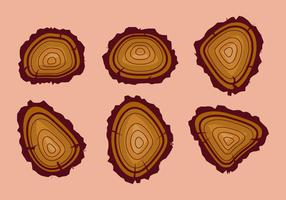Free Tree Rings Vector Illustration #13