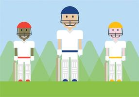 Gratis Cricket Players Vector