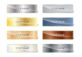 Basic Name Plates vector