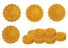 Mooncake Vektor Designs